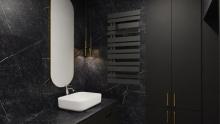 Instal Projekt Pop Star Plus grzejnik łazienkowy 50/100 Black Mat C31