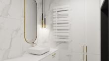 Instal Projekt Pop Star Plus grzejnik łazienkowy 50/100 White Mat C34